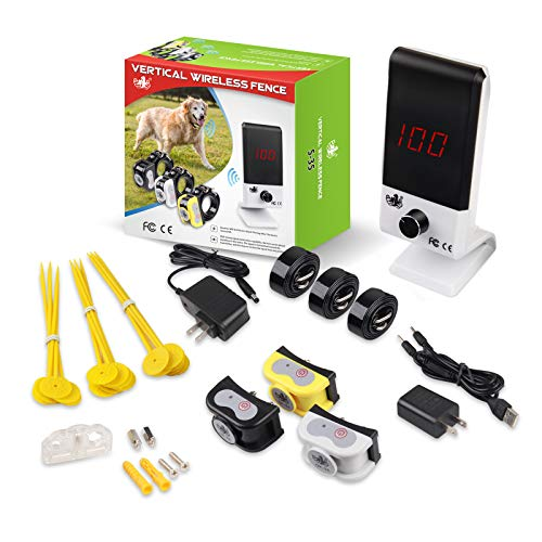 OKPET Vertical Dog Wireless Fence Pet Containment System, Vibrate/Electric Shock/Beep Wireless Dog...