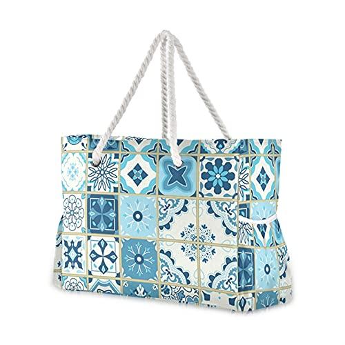 bolsa de playa Bolso de hombro de nylon para bolso de mano femenino bolso de playa de verano femenino femenino corazones de colores impresiones casual tote de la señora bolsa de compras ( Color : 04 )