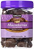 Kirkland Signature Macadamia Clusters Salted Caramel Milk Chocolate JAR of 2 Lb (32 Oz)