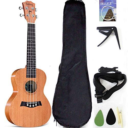Ukelele tenor de 26 pulgadas con accesorios para ukelele con bolsa de...