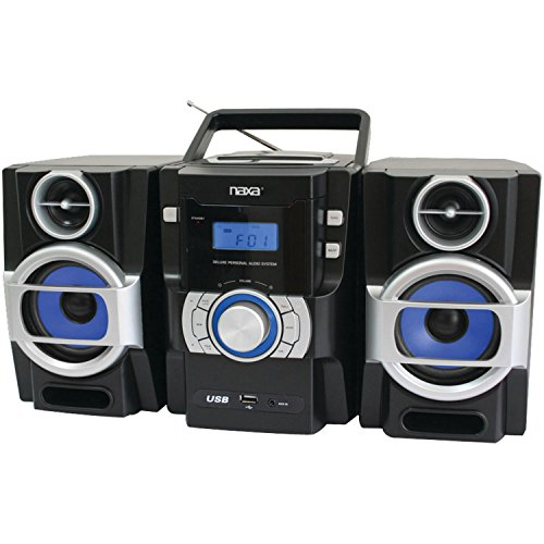 NAXA Electronics NPB-429 Portable MP3/CD Player with PLL FM Radio