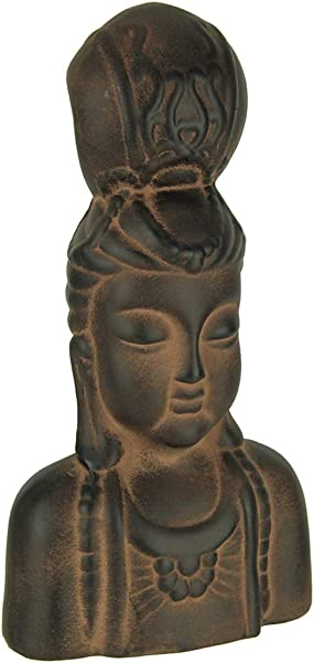 12 Inch Tall Kuan Yin Terracotta Indoor Outdoor Statue