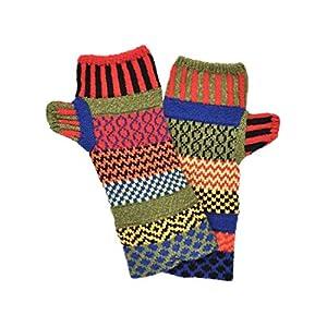 Solmate Socks, Mismatched Fingerless Mittens/Gloves for Women or Men, USA Made