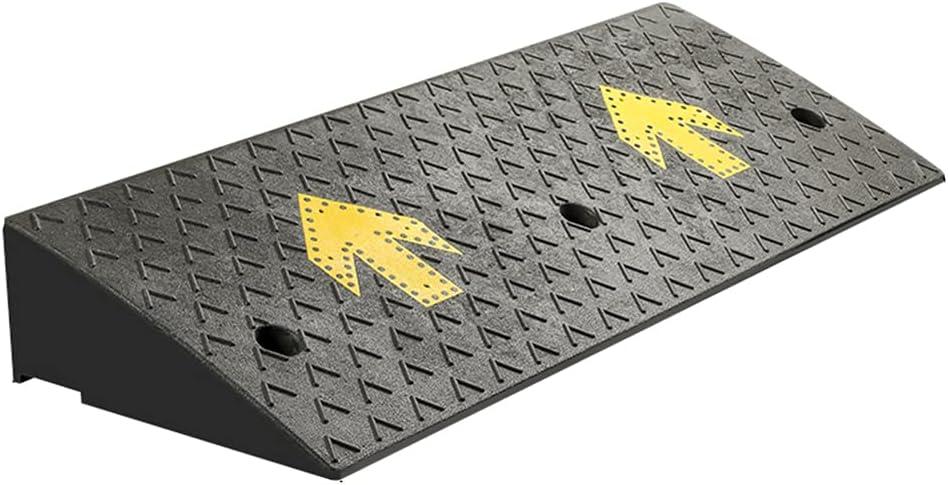 ZALNVEY Rampa de acera Industrial Antideslizante con patrón de Flecha Amarilla, Utilizada para calzada, Muelle de Carga, acera, automóvil, Scooter, Bicicleta, Motocicleta, Compuesto de Caucho y plás