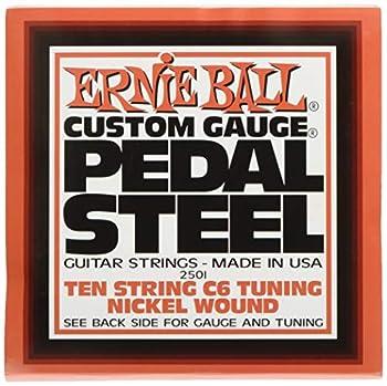 Ernie Ball Pedal Steel Nickel Wound 10-string Set C6 Tuning
