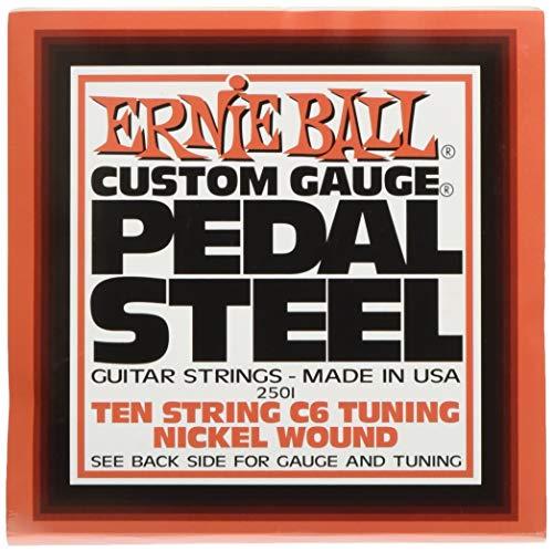Ernie Ball Pedal Stahl 10-Saiter C6 Tuning Nickel Wunde E-Gitarre Saiten - 12-66 Gauge