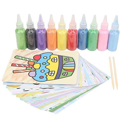 Zerodis Kit de Pintura de Bricolaje para niños, Pintura a Color Dibujo artístico Creativo de Arena Juguete de Pintura de Arena Juguete Educativo