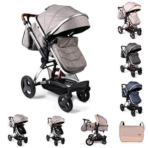 Moni silla de paseo combi 2en1 Veyron convertible capazo asiento deportivo, color:gris claro