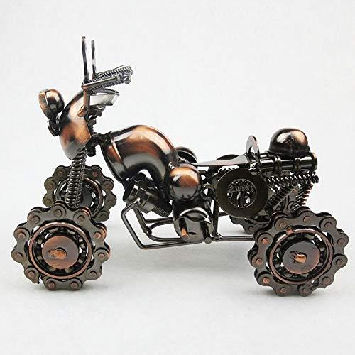 Gannon Front Galvanik Vierrädrigen ATV-Modell Home Wohnzimmer Studie Büro Dekoration Handmade Eisen Handwerk Besondere Kreative Geschenke Souvenir Bronze