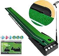 自動ボールリターン機能ゴルフマットプラクティストレーニングプロの運動やゲームに適した屋内ゴルフ練習ゴルフボール) (サイズ : 2.5m)