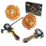 FANSETOYUMA Bey Battle Tops Metal Fusion Burst Turbo Gyro Evolution Set with 4D Launcher Grip and...