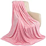 Fleece Throw Blanket for Couch Fuzzy 3D Cheetah Blanket Lightweight Warm Cozy Comfy Super Soft Leopard Blanket for Bed Sofa 260GSM (Pink Leopard,50x60inches)