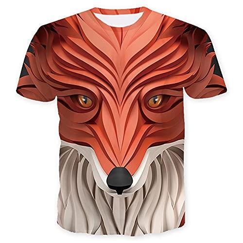 Tshirt Hombre con Cuello Redondo Novedad Creativa Manga Corta Cómoda Y Única Abstracta Hombre Ligera Informal Hombre con Estampado 3D Camiseta Casual Gótica T04 XL