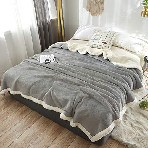 RTRHGDFFGFJHGDDTRHGHUG Licht grijs Klein deken kantoor verdikt dutje deken student slaapzaal stapelbed deken (120x200CM)