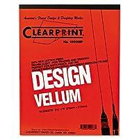 Clearprint Design ベラム紙 16ポンド ホワイト 18 x 24インチ 50枚/パッド