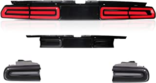 A&K Led Tail Lights for Dodge Challenger 2008 2009 2010 2011 2012 2013 2014,Rear Lights Assembly with Sequential Turn Signal Light,Running Light,Brake Light,Including Left,Middle,Right Side (Smoke)