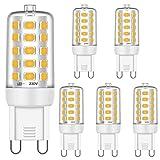 Brantoo G9 LED Glühbirnen 5W Entspricht 25W 28W 33W 40W Halogen Glühbirnen, Warmweiß 2700K, 460LM, CRI 85, G9 Sockel Energie sparen LED Lampe, Kein Flimmern, Nicht dimmbar, AC 220-240V, 5er Pack
