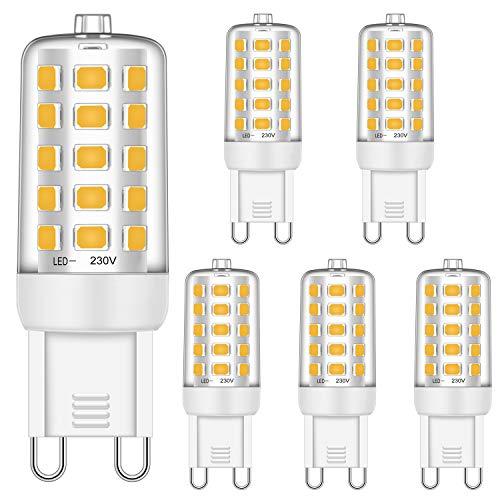 Brantoo G9 LED Glühbirnen 5W Entspricht 25W 28W 33W 40W Halogen Glühbirnen, Warmweiß 2700K, 460LM, CRI> 85, G9 Sockel Energie sparen LED Lampe, Kein Flimmern, Nicht dimmbar, AC 220-240V, 5er Pack