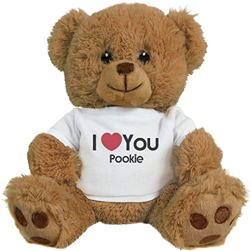 FunnyShirts.org I Heart You Pookie Love: 8 Inch Teddy Bear Stuffed Animal