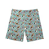 Matertial: 100% Polyester£»The smooth polyester fabric is lightweight, comfortable and quick dry Feature: The smooth mesh lining offers all the extra support your boys; This boys swim trunk features an elastic waistband with drawstring closure which ...