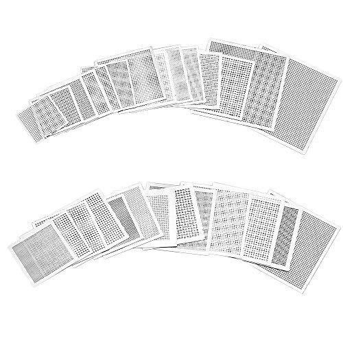 PERFETSELL 27 Stücke BGA Reballing Rework Net Schablonen Chip Universal Stahl Vorlage Mesh Direkter Hitze Set Kit für Notebooks, Desktops, Nord-Süd-Brücken und Grafikkarten