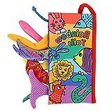 Livre D'éveil Bébé Livre en Tissu Queue Livre En Tissu Jouet Infantile Anti-Déchirure Jouet Educatif Cadeau Anniversaire(Rainbow Tail)