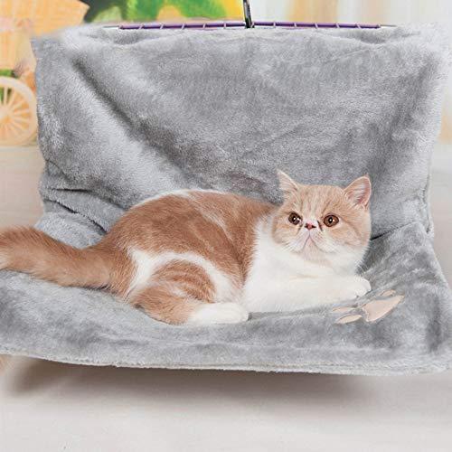 Roofeel Kat Bed Verwijderbare Vensterbank Kat Radiator Lounge Hangmatten Voor Kat Kitty Hangend Bed Gezellige Carrier Huisdier Bed Stoel Hangmat, Grijs