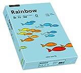 Papyrus 88042720 Drucker-/Kopierpapier farbig: Rainbow 80 g/m² DIN-A3, 500 Blatt Buntpapier, matt, mittelblau