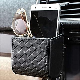 Car Storage Bag Car Outlet Vent Seat Back Tidy Storage Box PU Leather Coin Bag Case Pocket Organizer Glasses Phone Hanging...