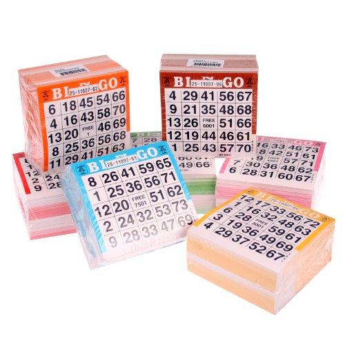 Longfield Bingo Karten, 3500 Tickets, für 1-75 Bingo Spiel