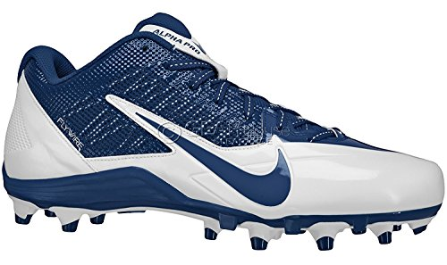 Nike Mens Alpha Pro TD Low Football Cleats Blue/White 579545-140 Size 13