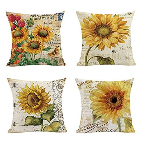 Youngshion, 45 x 45 cm, stampa a tema, federe assortite per cuscini, per patio, giardino, terrazza, soggiorno, fattoria (13)