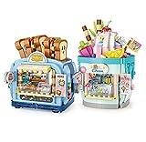 2PCS/Set LOZ Bread Icecream Mini Blocks Kids Building Toys DIY Girls Puzzle Gift 1745 1746 (no Box)