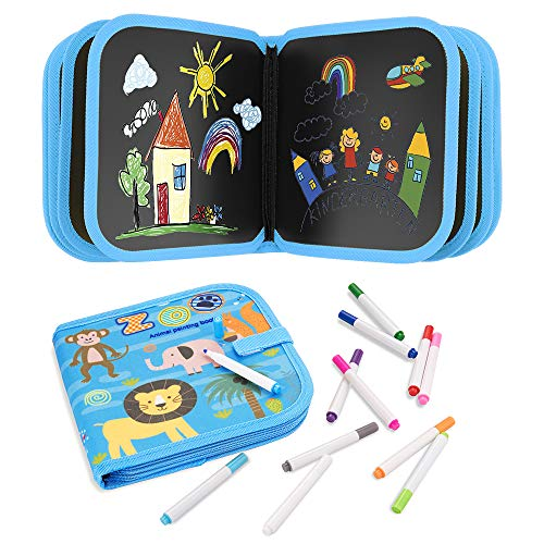 HWeggo Erasable Doodle Book, Kids' Drawing Writing Boards, Double-Sided...