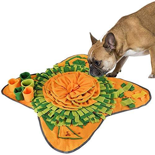 KunLS Alfombra Olfativa Perros Flores Juguetes Interactivos para Perros Snuffle Mat para Perros Estera De AlimentacióN Estera De Entrenamiento Manta para La Nariz Juguete De Juego