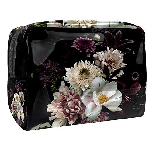 Vieux trésor carte sur un fond en bois motif de fond de fond de maquillage portable sac de maquillage outil de rangement pour les voyages femmes hommes Multicolore Couleur 5 18.5x7.5x13cm/7.3x3x5.1in