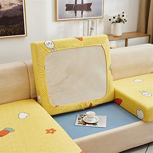 Fundas de cojín para sofá y sofá, elásticas, de repuesto para cojines individuales (amarillo, 4 plazas)