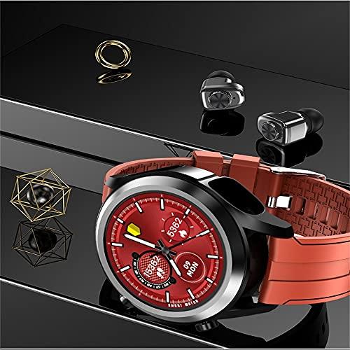 chengjinhuashangmao Smart Watch Auricular Deportes Pulsera Deportivo 2 en 1 Monitoreo de ritmos cardíaca Bluetooth Llamar música (Color : Orange)