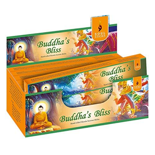 Soul Sticks Hand-Rolled Incense Sticks Mystic Spirit Blends 180 Gram Box | 100% Natural Masala Incense Organic Home Fragrance Agarbatti (Buddha's Bliss)