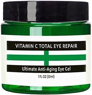 Raw Biology Vitamin C Anti aging Eye Cream Gel. This Gel moisturizer with Hyaluronic acid & Vitamin E is the Best anti aging eye repair for Dark circles, crows feet, eye brightener