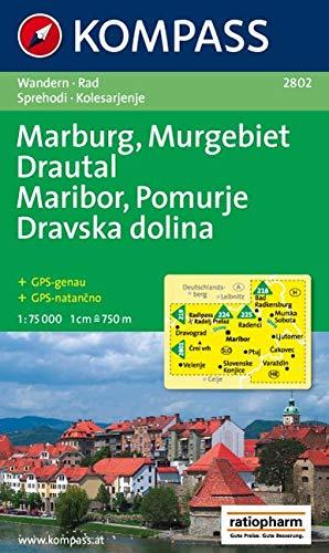 Marburg, Murgebiet, Drautal / Maribor, Pomurje, Dravska dolina: 1 : 75 000: Wandern / Rad. Sprehodi / Kolesarjenje. GPS-genau