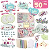 PICKME Greeting Card Making Kit DIY, Handmade Cards Maker Kit for Kids & Adults, Beautiful Love Assortment of Art Characters with Envelopes, Create Your Personalized Birthday & Thank You Cards