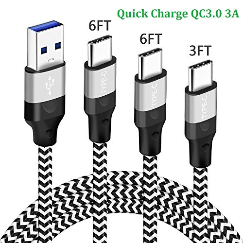 USB C Charging Cable Charger Cord for Moto G7 G8 Play Power Plus Z3,G Fast,G Power,G Stylus,LG Stylo 5 6 V35 V40 Thinq,V30 V20,Motorola Z4 Z2 Z Force Droid,USB Type C Quick Charge Phone Wire 3/6/6FT