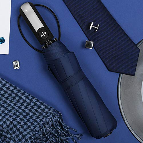 MMWW Touch The Cloth Automatic Umbrella 10 Bone Umbrella Sun Umbrella UV Protection Three-fold Umbrella-Purple_Radius 57CM