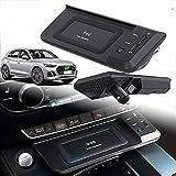Cargador InaláMbrico para Coche Compatible con Audi Q5 Sq5 2019 2020 2021, Salida 15w Qc 3.0 Puerto USB Carga RáPida Dispositivos Carga InaláMbrica 18w para iPhone Samsung