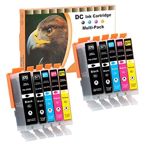 D&C 10x Cartucce d inchiostro Sostituzione per Canon PGI-570 XL CLI-571 XL Compatibile con Canon PIXMA MG5750 MG6850 MG6851 TS5050 TS5055 TS6050 TS6051 TS6052 MG5700 MG5751 MG6800
