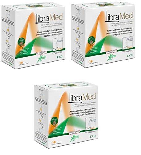 ABOCA - 3 X FITOMAGRA LIBRAMED - 40 BUSTINE GRANULARI MONODOSE - Aiuta a controllare il picco glicemico postprandiale, rallentando e riducendo l'assorbimento di carboidrati e grassi