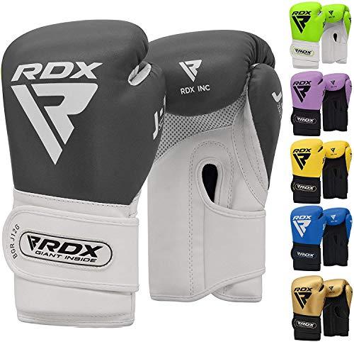 RDX Boxhandschuhe Kinder für Muay Thai & Training Maya Hide Leder Punchinghandschuhe Gut für Kickboxen, Kampfsport, MMA, Sparring, Boxsack, Sandsack Junior Boxing Gloves (MEHRWEG)