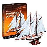3D立体パズル スクーナー型帆船