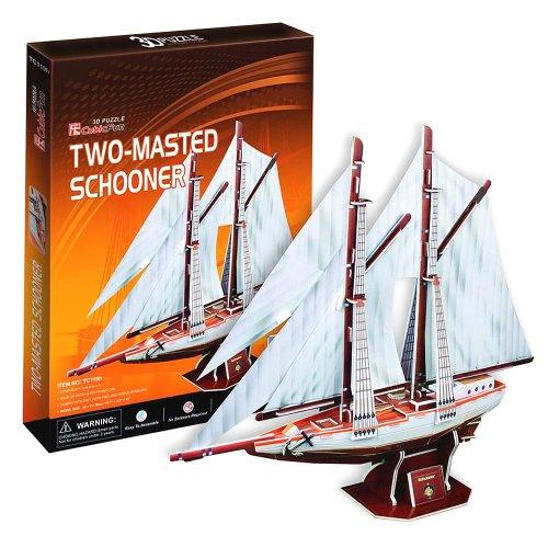 3D three-dimensional puzzle type schooner sailing ship (japan import)